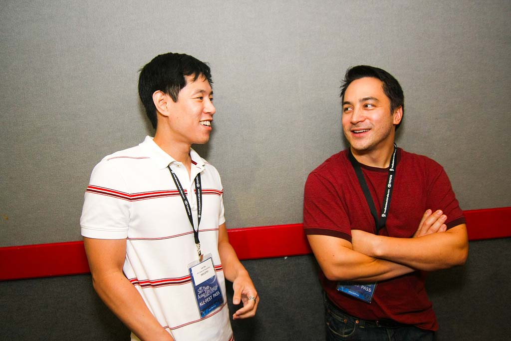 Leo Chu and Eric Garcia at SDAFF