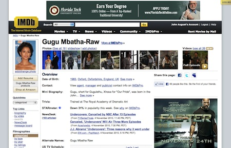 original IMDb layout