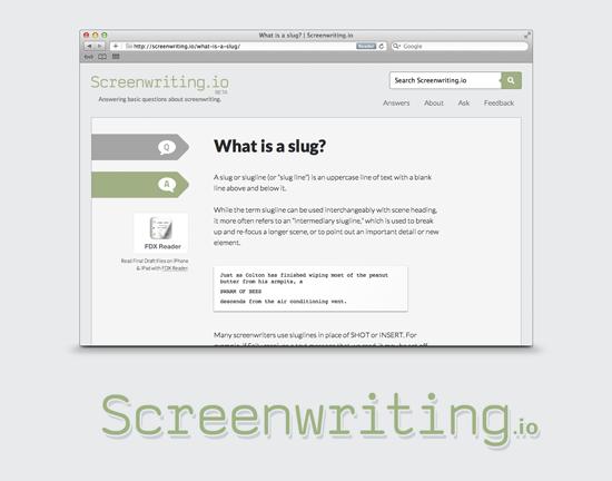 Introducing Screenwriting.io