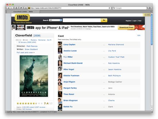 The final Less IMDb design.