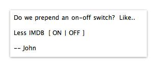 John's original control suggestion