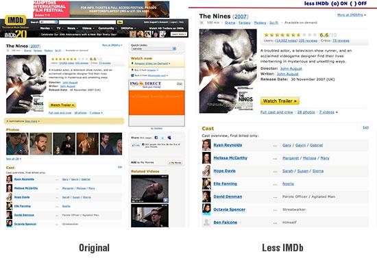 Original Less IMDb mockup