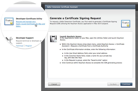 Step 2: Certificate Utility