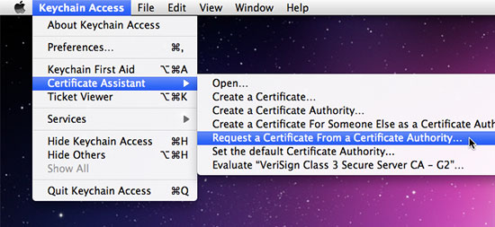 Step 3: Certificate Assistant