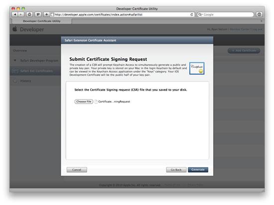 Step 5: Upload certificate request