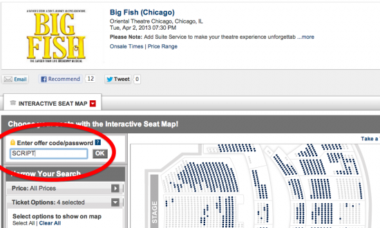 big fish seat map