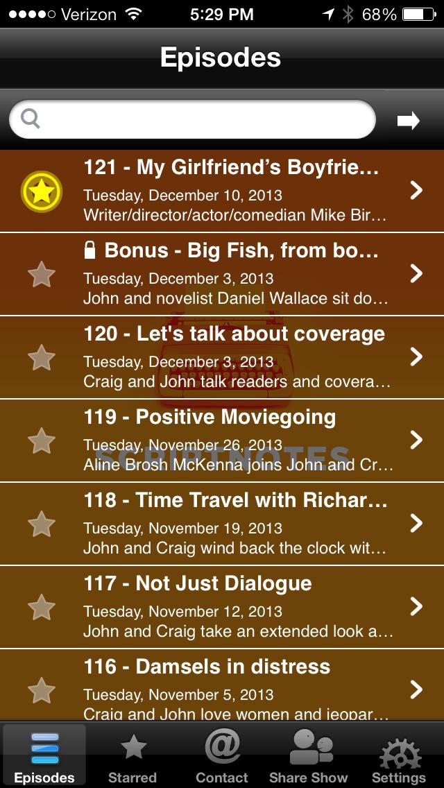 scriptnotes app screenshot