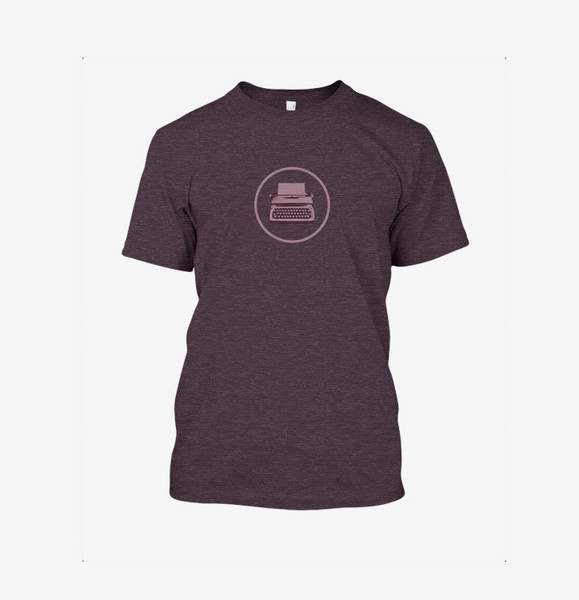 purple logo shirt